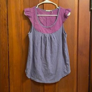 Tank top with shoulder ruffle detail